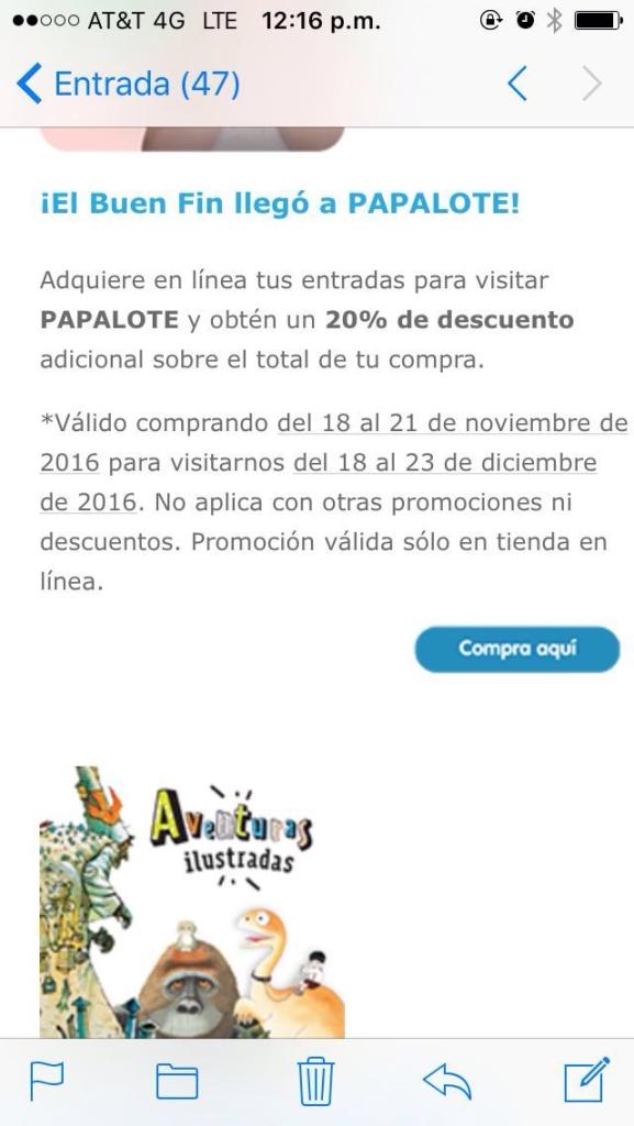 El Buen Fin 2016 en Papalote Museo del Niño en línea: 20% de descuento