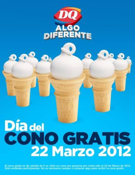 Dairy Queen: 22 de marzo día de cono gratis
