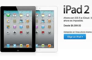 Apple Store: iPad 2 desde $6,099