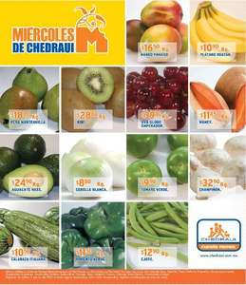 Miércoles de frutas y verduras Chedraui marzo 7: toronja $2.90 Kg, papa $6.80 Kg y más