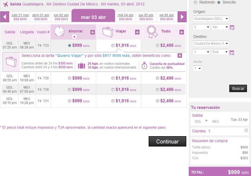 Volaris: vuelos en oferta a Cancún, EUA, GDL, DF, Toluca y Tijuana