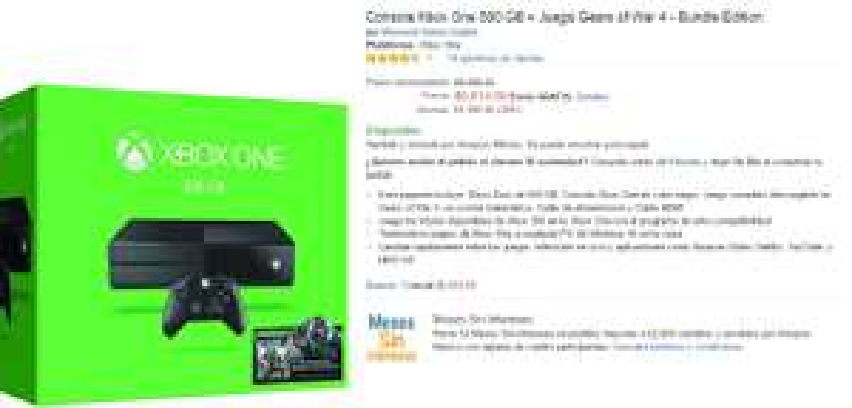 Buen Fin 2016 Amazon: Consola Xbox One Gears of War 4 y otros bundles a $5,014 ya se puso bueno