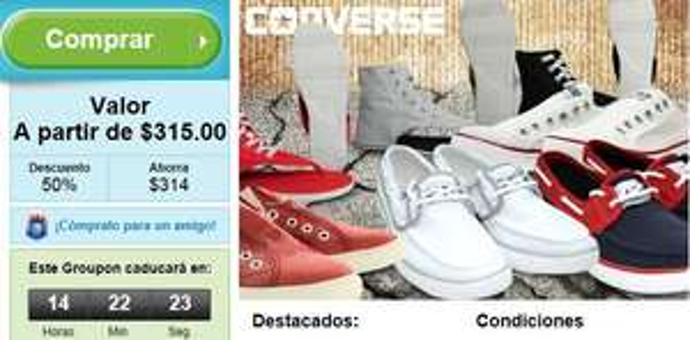 Groupon: Mitad de precio en sandalia Thong o tennis Chuck It de Converse (nueva colección)