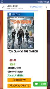 Gamecool: The Division para PS4 o Xbox One a $399