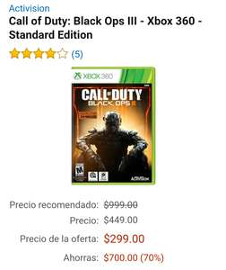 Amazon: Call Of Duty Black Ops lll para Xbox 360