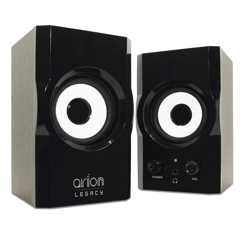 Amazon: Arion Legacy AR302-BK AC Powered 2.0 Desktop PC Speakers - Black, 12 Watts