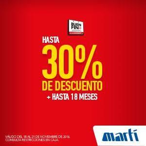 El Buen Fin 2016 en Martí: hasta 30% de descuento
