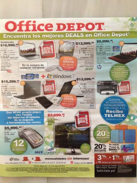 Office Depot: 20% de descuento en tarjetas iTunes, fundas para iPad 2 y más