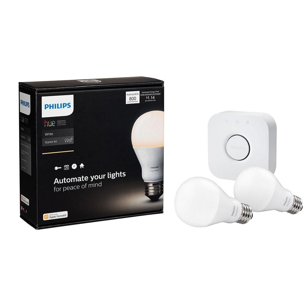 Best Buy:  Kit Hue white 9.5 watts A19 E26 Philips