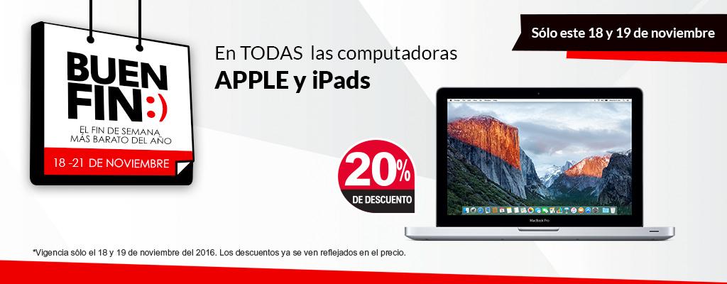 Buen Fin 2016 en Office Depot: 20% de descuento en iPad y Mac