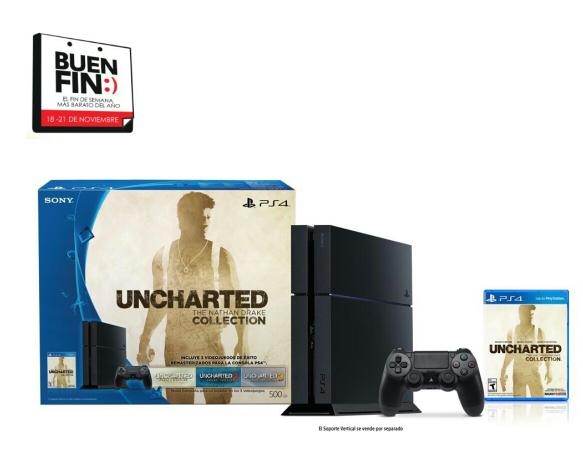 Walmart El Buen Fin: PS4 con uncharted collection a $4399 pagando con BBVA wallet, o 4699 con tarjeta de crédito bancomer