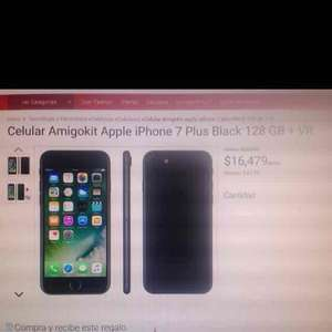Claro Shop: iPhone 7 Plus 128 GB Black.