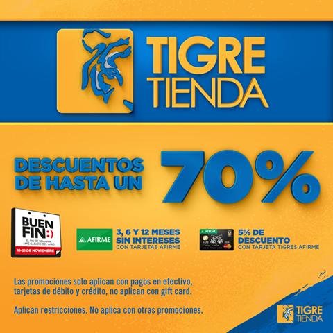 El Buen Fin 2016 en Tigre tienda:  hasta 70 % de descuento