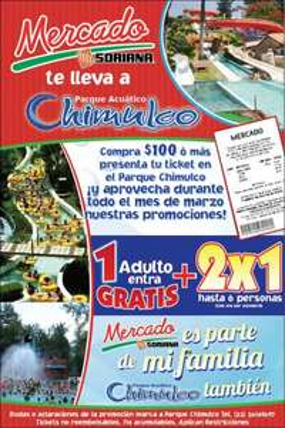 Promociones en La Feria de Chapultepec, CICI y Chimulco con compra en Mercado Soriana