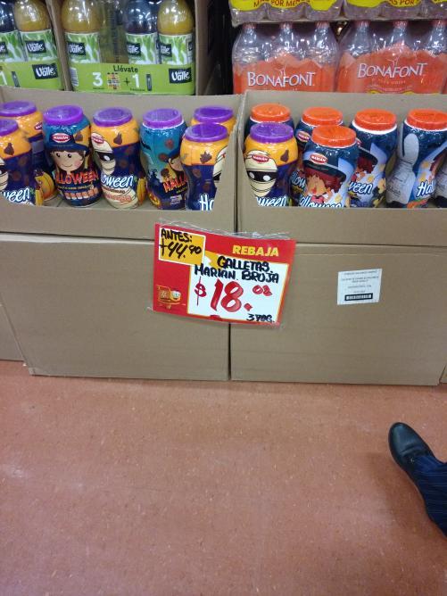 Walmart Aeropuerto:galletas en liquidación a $18.02