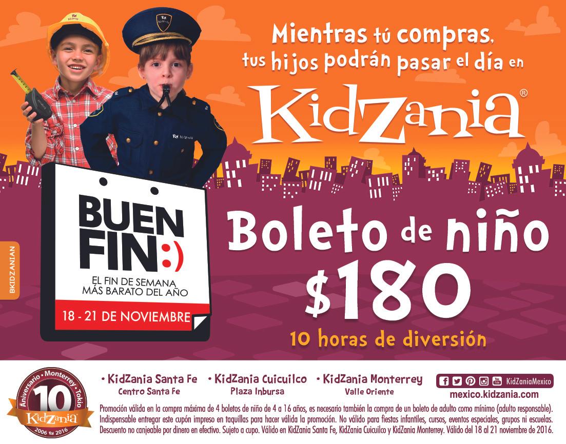 Buen Fin 2016 KidZania: boleto de niño a $180