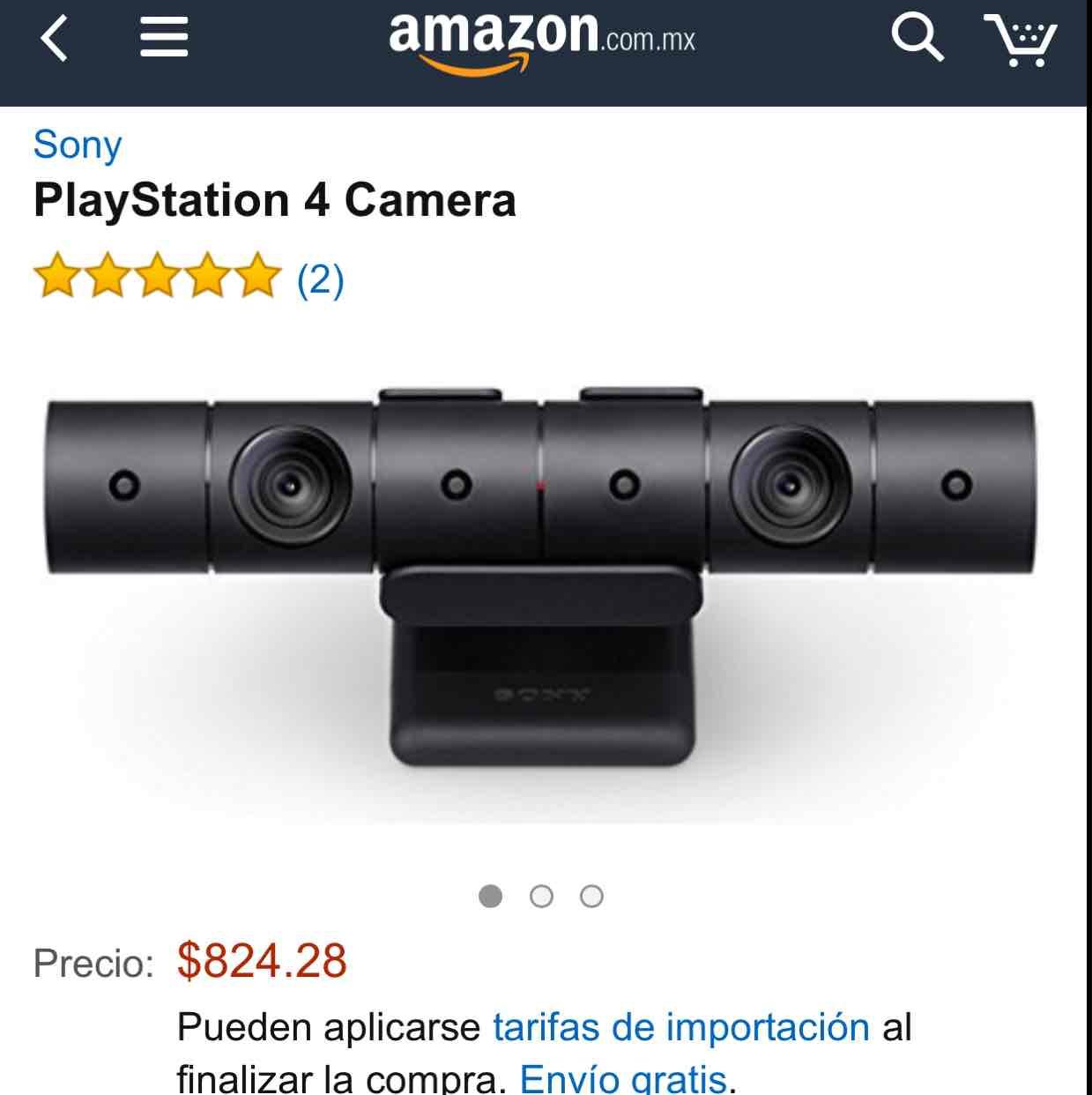 Amazon: PS4 Camera a 824