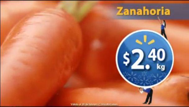 Martes de Frescura en Walmart febrero 28: zanahoria $2.40 Kg y más