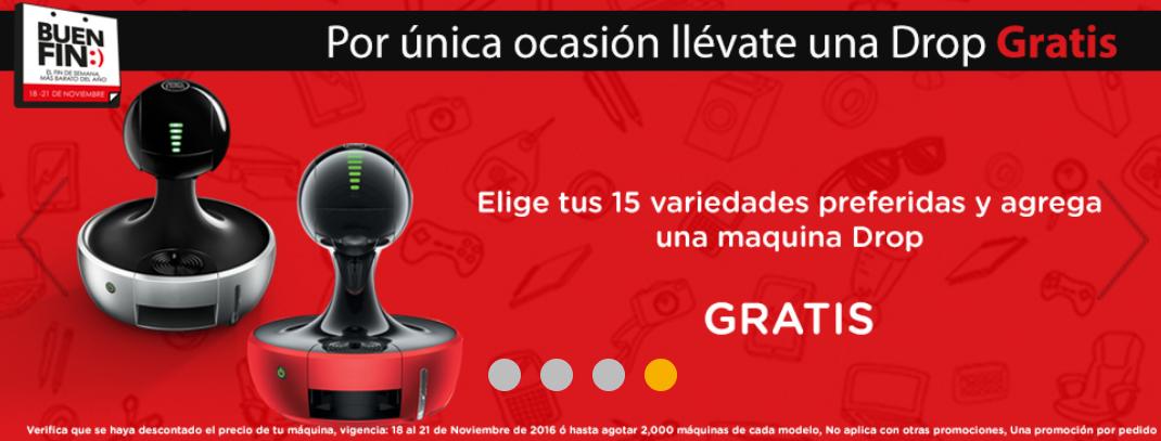 Buen Fin 2016 Dolce Gusto: en la compra de 15 cajas Gratis la maquina Drop