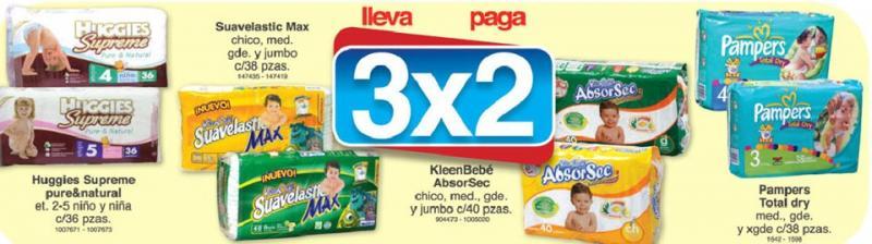 Farmacias Benavides: 3x2 en pañales Huggies, KleenBebé, Suavelastic y Pampers