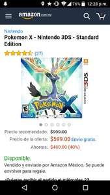 Amazon: Pokemon X - Nintendo 3DS - Standard Edition