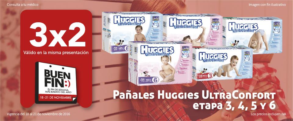 Ofertas del Buen Fin 2016 en Farmacia San Pablo: 3x2 en Huggies y más