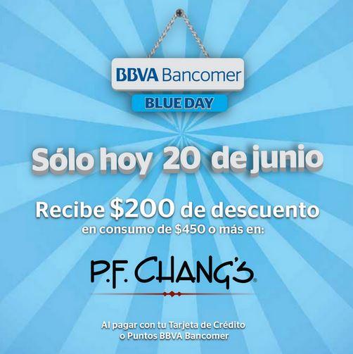 P.F. Chang's: $200 de descuento en consumo de $450 con Bancomer