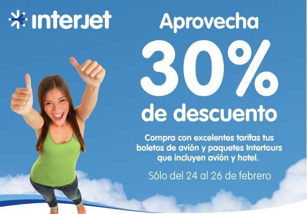 Interjet: 30% de descuento en rutas nacionales e internacionales (oferta extendida)