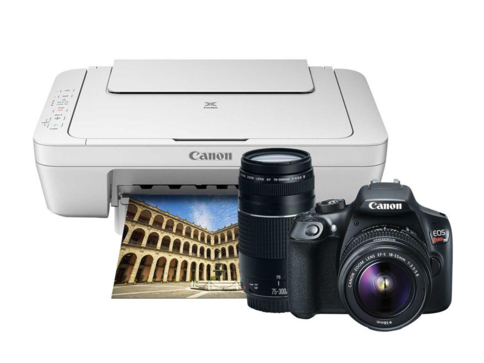 Liverpool: Kit Cámara Reflex Canon T6 + Lente 18-55mm + Lente 75-300mm + Multifuncional