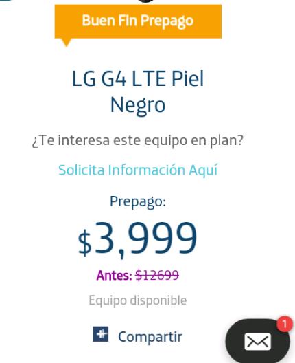 Movistar: LG G4 LTE PIEL NEGRO DE $12,699 a $3,999