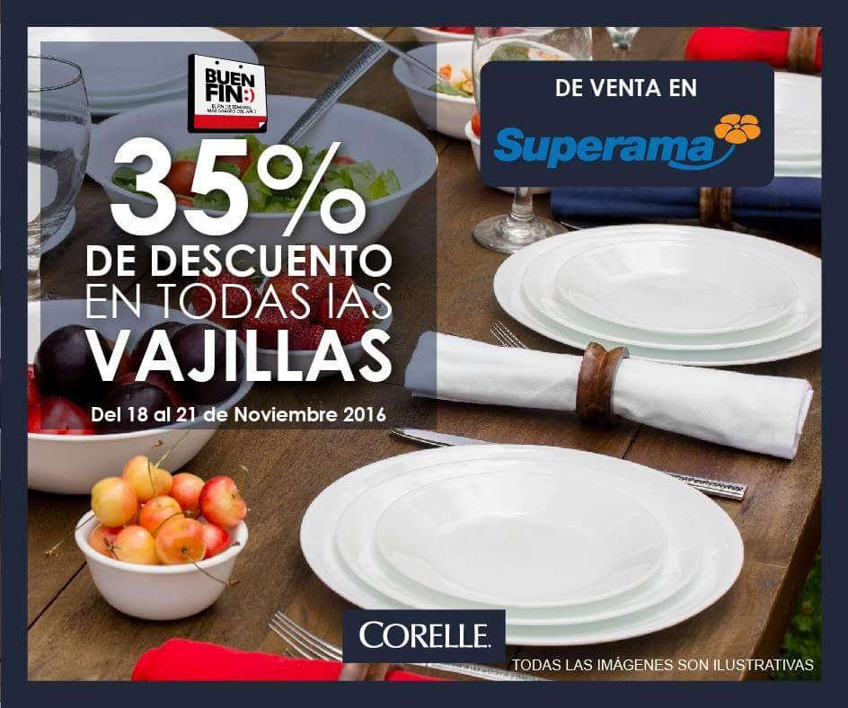 El Buen Fin 2016 en Superama: 35% de descuento en vajillas Corelle