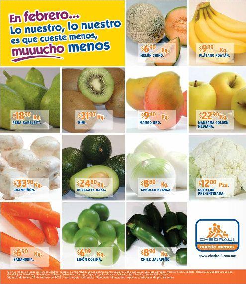 Miércoles de frutas y verduras Chedraui febrero 22: tomate $3.70, pera $15.90 y más