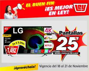 "Tiendas Ley: Tv Lg 49"" 4k HDR Smart TV $6660 citibanamex"