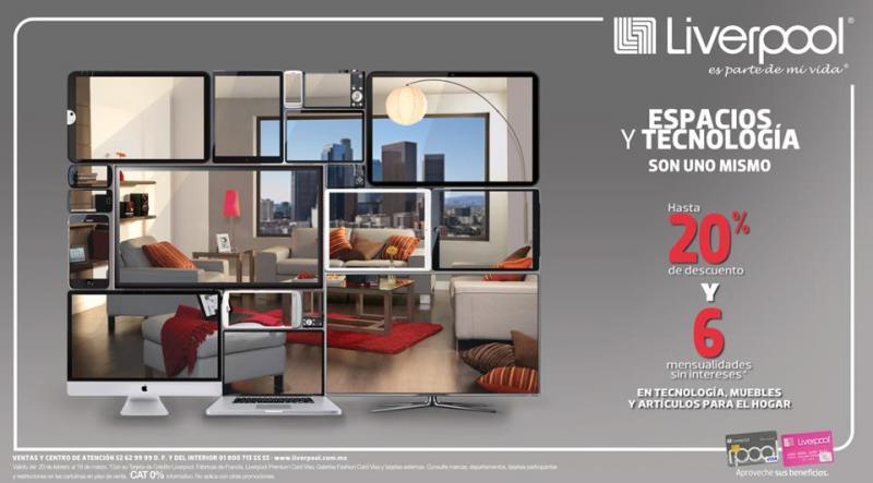 Liverpool: hasta 20% de descuento y 6 MSI en tecnología, muebles y artículos para el hogar