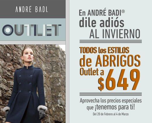 André Badi: todos los abrigos outlet a $649 (oferta extendida)