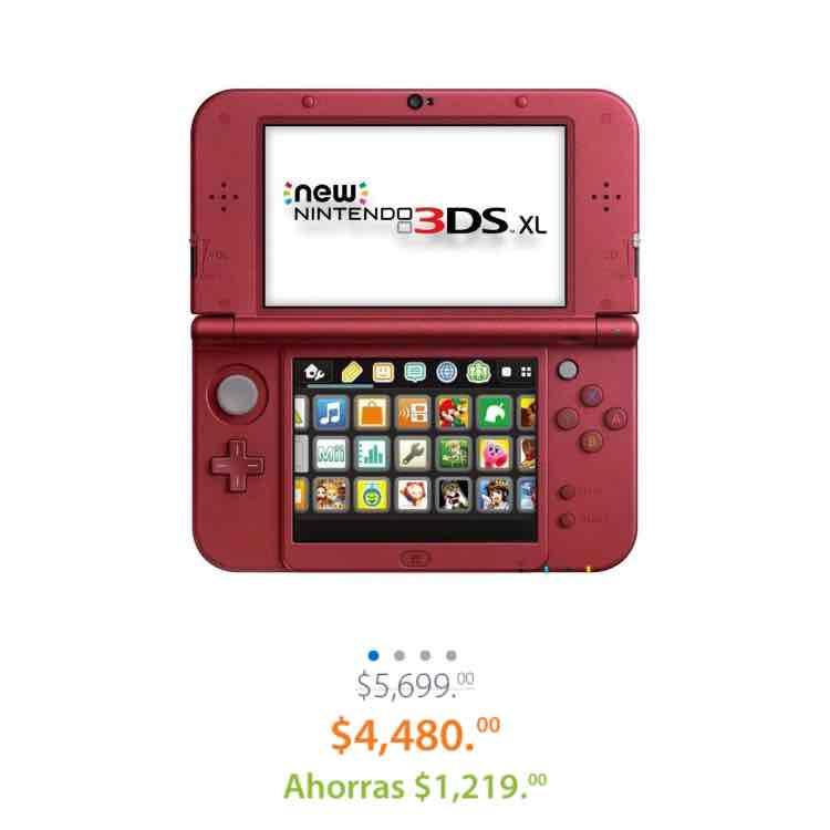 Buen Fin 2016 Walmart: New Nintendo 3DS Rojo y Negro $4,480 omenos
