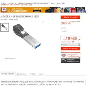 Radioshack: Memoria USB para iPhone - 32 GB