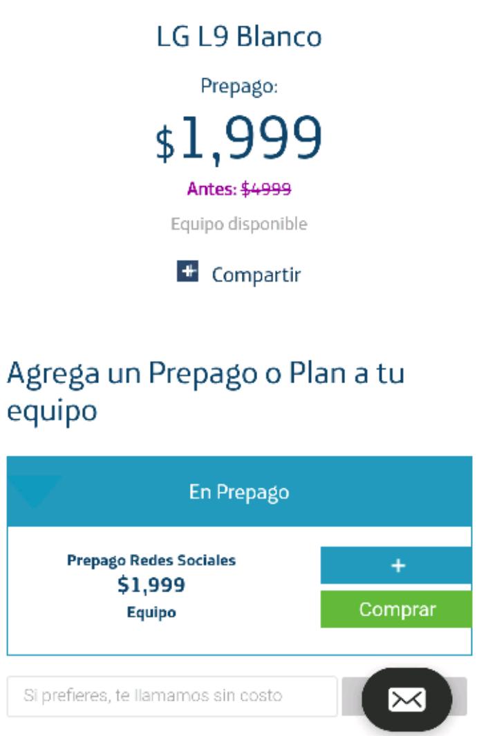Buen Fin 2016 Movistar en línea: celular LG L9