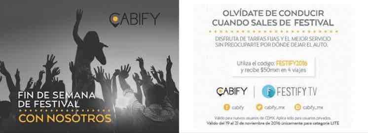 Cabify CDMX: código para 4 viajes de $50, nuevos usuarios