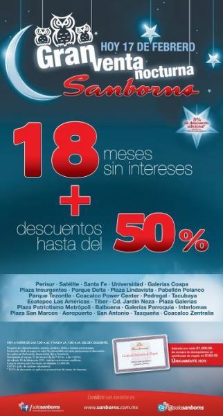 Venta noctura Sanborns: hasta 50% de descuento y 18 MSI (solo hoy)