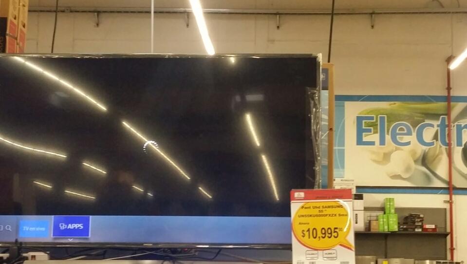 Chedraui Cristal Puebla: pantalla Samsung 4k 55 pulgadas