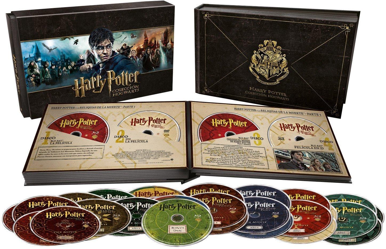 Buen FIn 2016 Amazon: Oferta Buen Fin Harry Potter Coleccion Hogwarts (Blurays + DVD + Copia Digital + Libro)