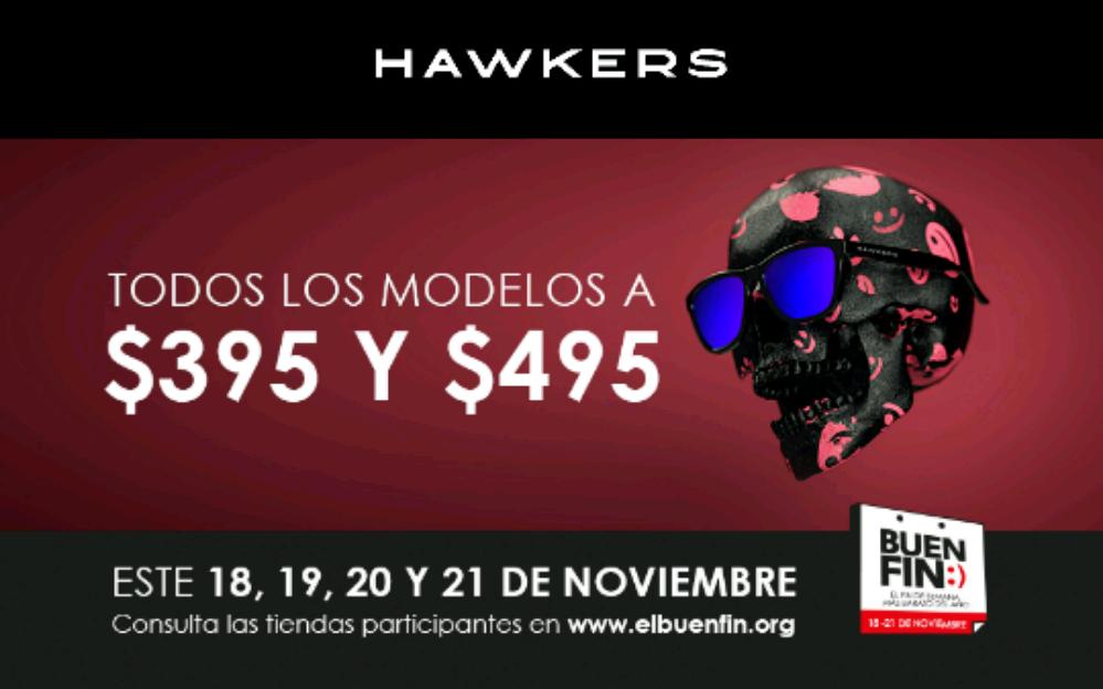 Ofertas Buen Fin 2016 Hawkers: Lentes Hawkers todos los modelos $395 y $495
