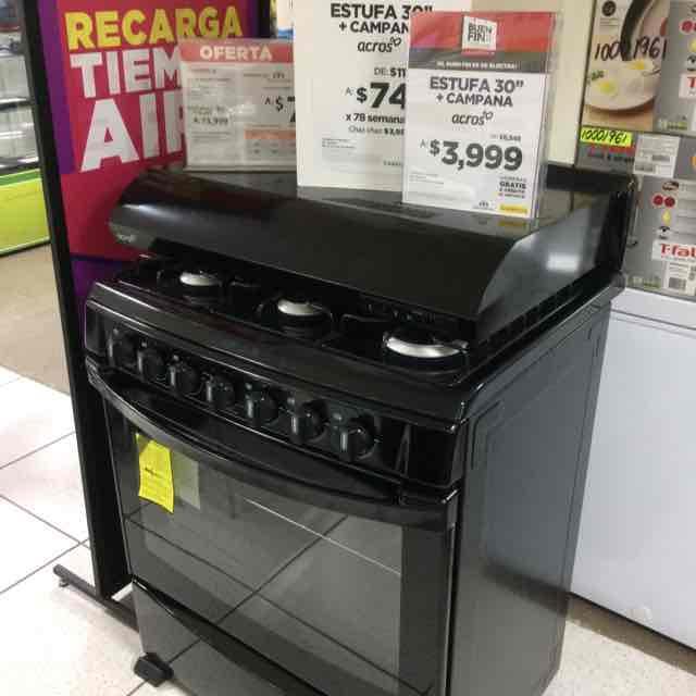 Elektra: estufa acros 30 pulgadas + campaña por solo 3999