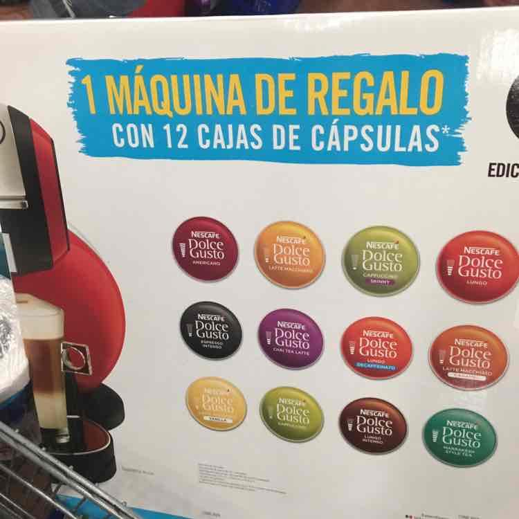 Walmart: dolce gusto con 12 cajas de capsulas