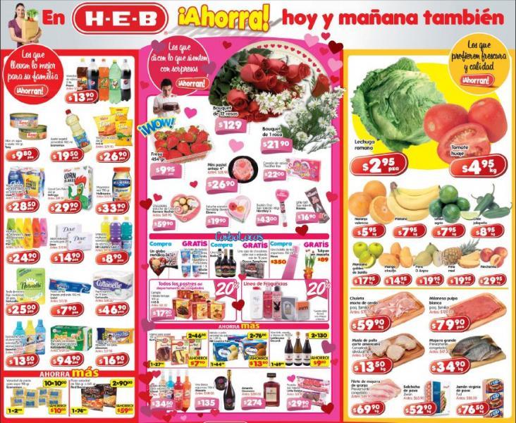 Ofertas frutas y verduras en HEB febrero 14: tomate $4.95 Kg, lechuga $2.95 pza y más