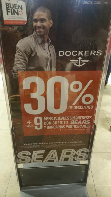 Sears: 30% en todo dockers y levis mas 9 msi