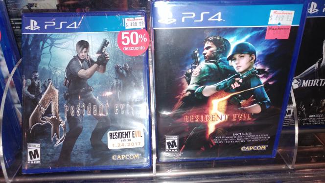 Sanborns: Resident Evil 4, 5, 6 para PS4 y Ajedrez de StarWars