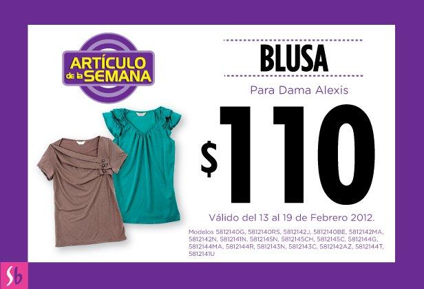 Artículo de la semana en Suburbia: blusa Alexis para dama a $110