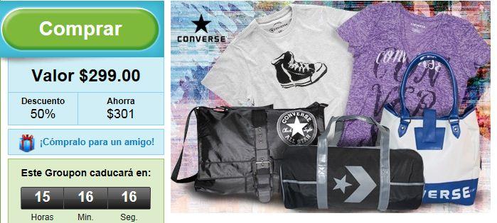 Groupon: gift card de $600 para tiendas Converse a $299 (oferta extendida)
